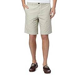 Ben Sherman - Beige fine striped shorts