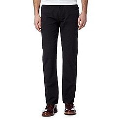 Ben Sherman - Black straight leg cord trousers