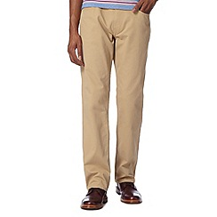 BEN SHERMAN - Beige bedford regular fit chinos