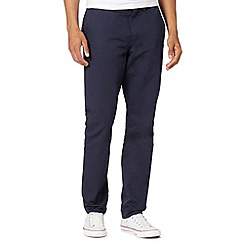Fred Perry - Navy twill straight leg chinos