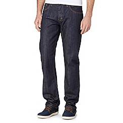 BEN SHERMAN - Blue straight leg rinse wash jeans