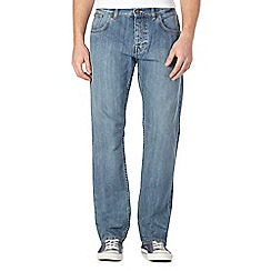 Ben Sherman - Blue light wash straight fit jeans