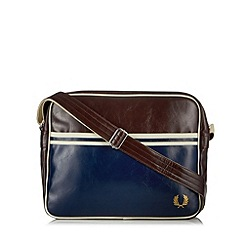 Fred Perry - Wine zip fastening shoulder bag