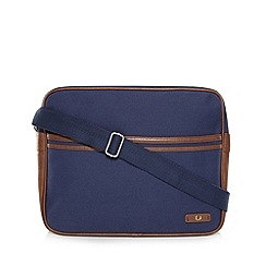 Fred Perry - Blue canvas shoulder bag