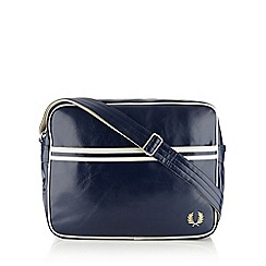 Fred Perry - Navy zip shoulder bag