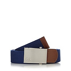Fred Perry - Blue plain canvas belt