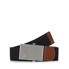 Fred Perry - Black plain canvas belt