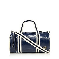 Fred Perry - Navy classic barrel bag