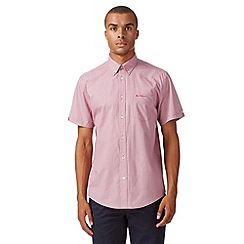 Ben Sherman - Red short sleeved mini square print shirt