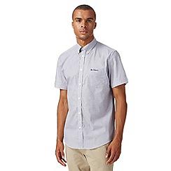 Ben Sherman - Blue short sleeved honeycomb print shirt