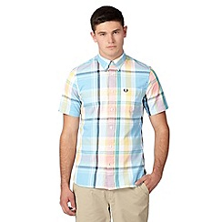 Fred Perry - Yellow bold checked regular fit oxford shirt