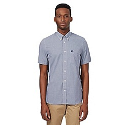 Fred Perry - Big and tall navy gingham shirt
