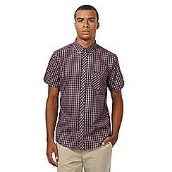 Ben Sherman - Navy checked short sleeved shirt