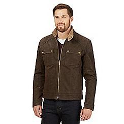 Barneys - Big and tall brown zipped jacket