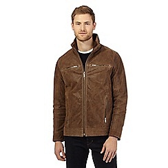 Barneys - Big and tall tan leather jacket