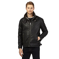 Barneys - Big and tall black PU bonded jacket