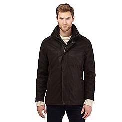 Barneys - Big and tall dark brown mock 2-in-1 jacket