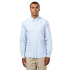 Fred Perry - Light blue logo embroidered oxford shirt