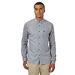Fred Perry - Big and tall white regular oxford twill gingham shirt