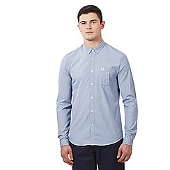 Fred Perry - Big and tall light blue button down shirt