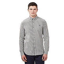 Fred Perry - Big and tall grey amplified gingham check shirt