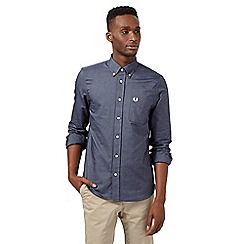 Fred Perry - Big and tall dark blue regular fit classic oxford shirt