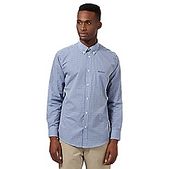 Ben Sherman - Big and tall blue tonal gingham shirt