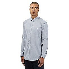 Ben Sherman - Big and tall blue micro lines printed shirt