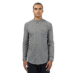 Ben Sherman - Grey gingham checked long sleeved shirt