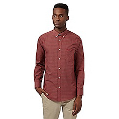 Ben Sherman - Big and tall red tartan button down collar shirt
