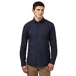 BEN SHERMAN - Navy brushed button down shirt