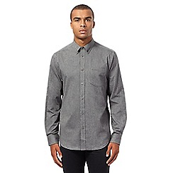Ben Sherman - Big and tall grey brushed shirt