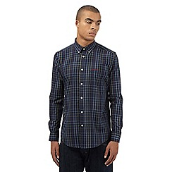 Ben Sherman - Navy highlighted windowpane checked shirt