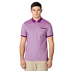 Ben Sherman - Purple oxford polo shirt