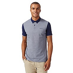 Ben Sherman - Dark blue birdseye polo shirt