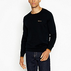 Ben Sherman - Black birdseye polo shirt
