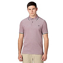 Fred Perry - Red twin tipped regular fit polo shirt