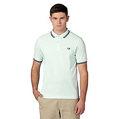 Fred Perry - Green twin tipped slim fit polo shirt
