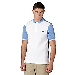 Fred Perry - White oxford slim fit polo shirt