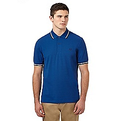 Fred Perry - Blue two tone twin tipped regular fit polo shirt