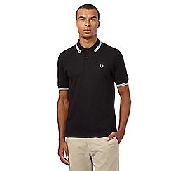 Fred Perry - Black tipped slim fit polo shirt