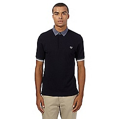 Fred Perry - Navy gingham polo shirt