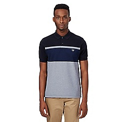 Fred Perry - Navy Oxford striped polo top