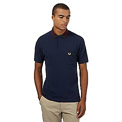 Fred Perry - Navy check polo shirt