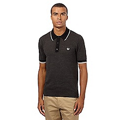 Fred Perry - Grey knitted polo top