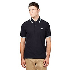 Fred Perry - Navy logo pique polo shirt