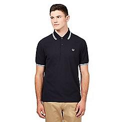 Fred Perry - Navy logo pique polo shirt