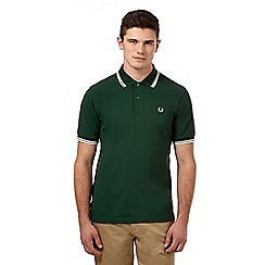Fred Perry - Green logo pique polo shirt