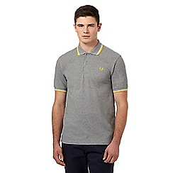 Fred Perry - Grey twin tipped regular fit polo shirt