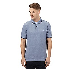 Fred Perry - Blue tipped slim fit polo shirt